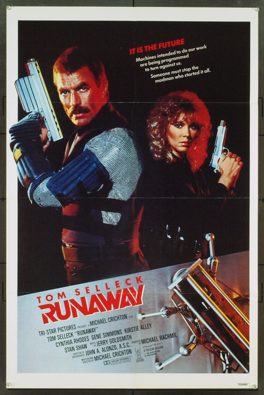 Original Runaway The 1984 Movie Poster In Vf Condition For 35
