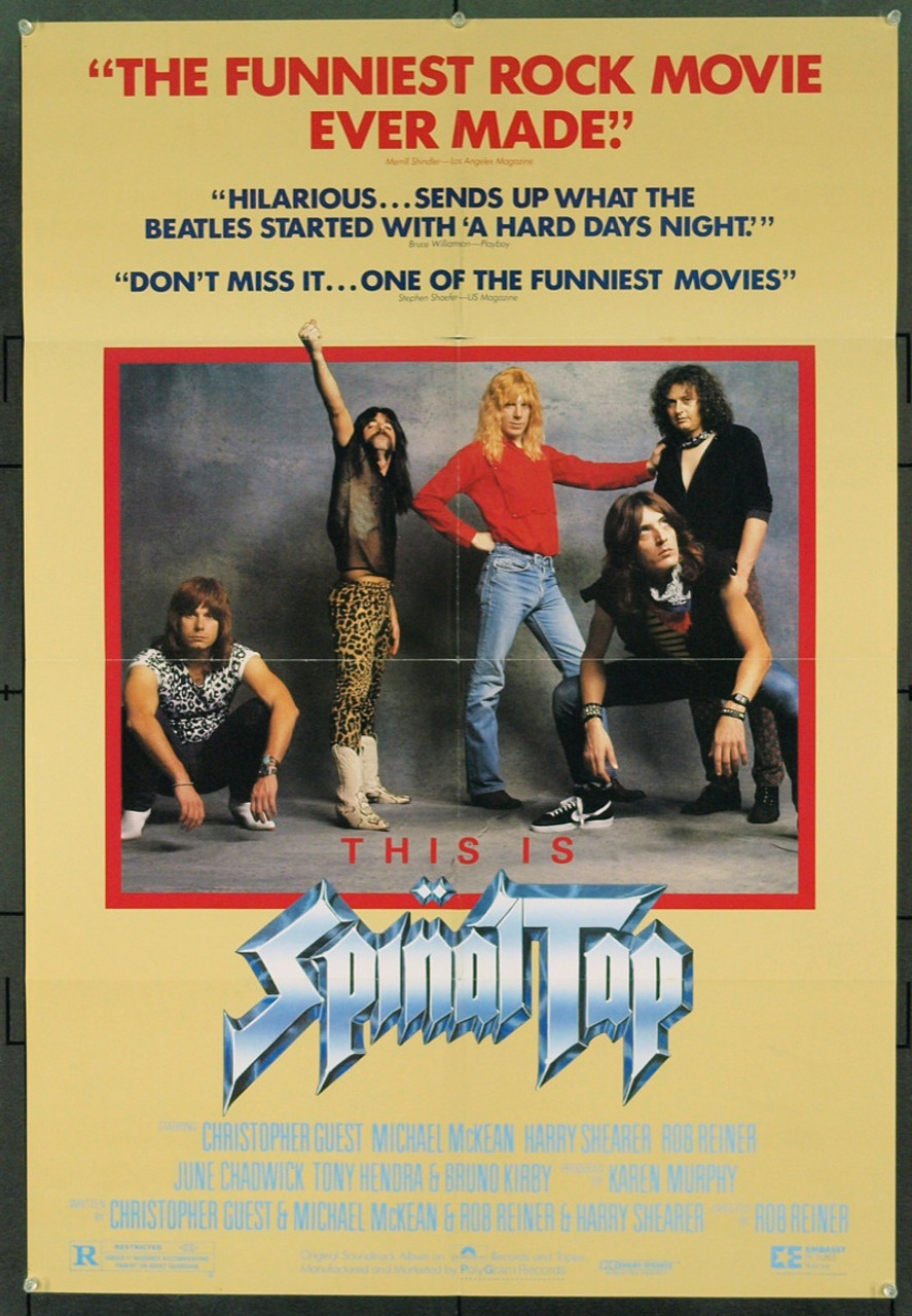 Original This Is Spinal Tap 1984 Movie Poster In F Condition For 150