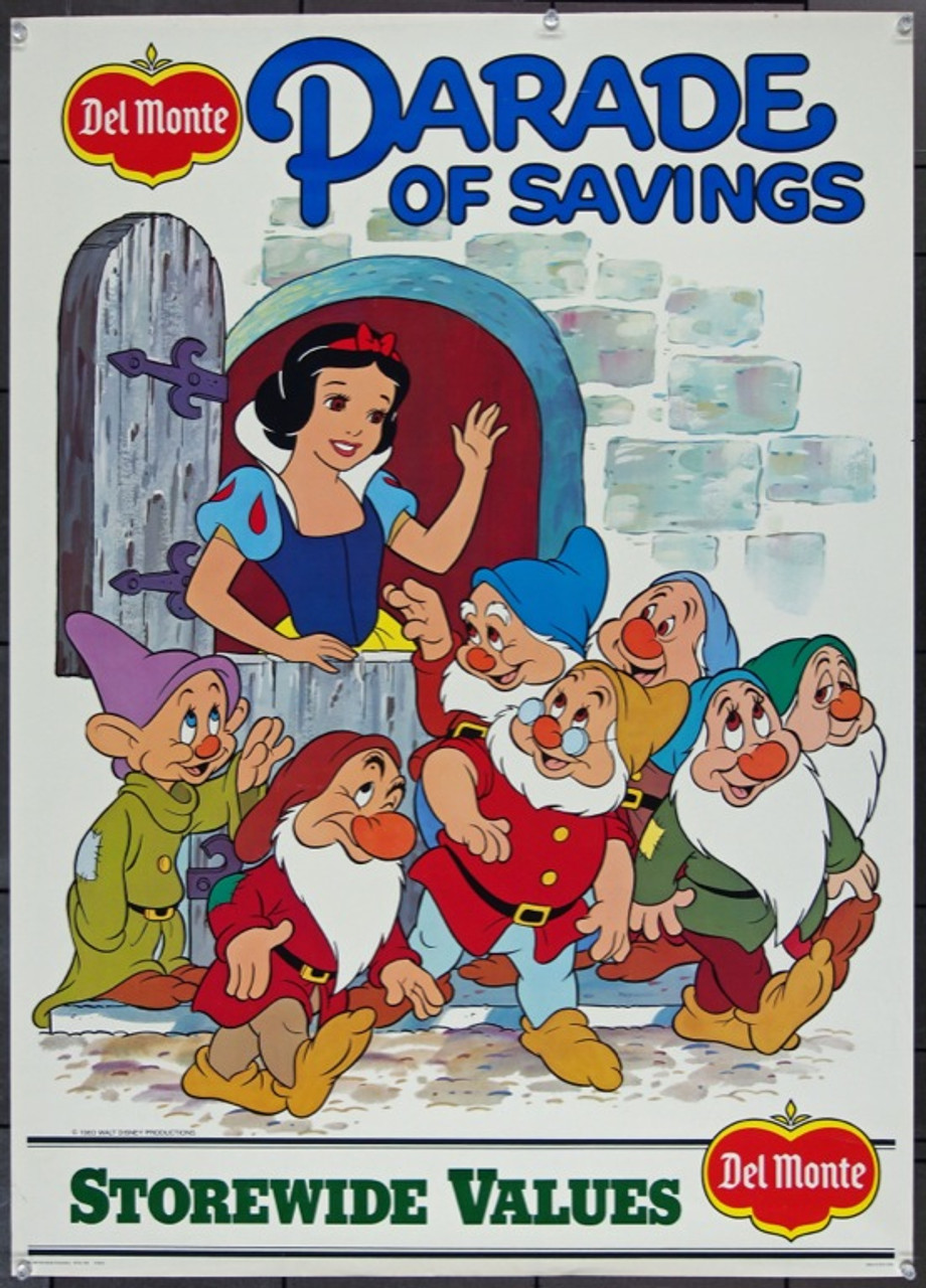 bbb6db344c5 DISNEY DEL MONTE  SNOW WHITE AND THE SEVEN DWARFS (1983) 1791 Original