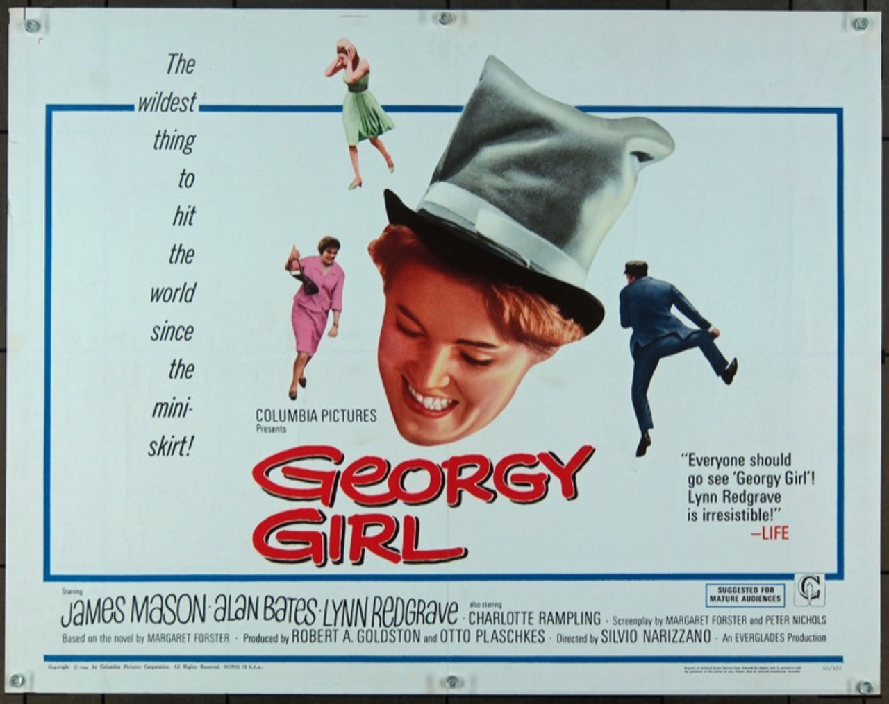 Original Georgy Girl (1966) movie poster in VF condition for $50