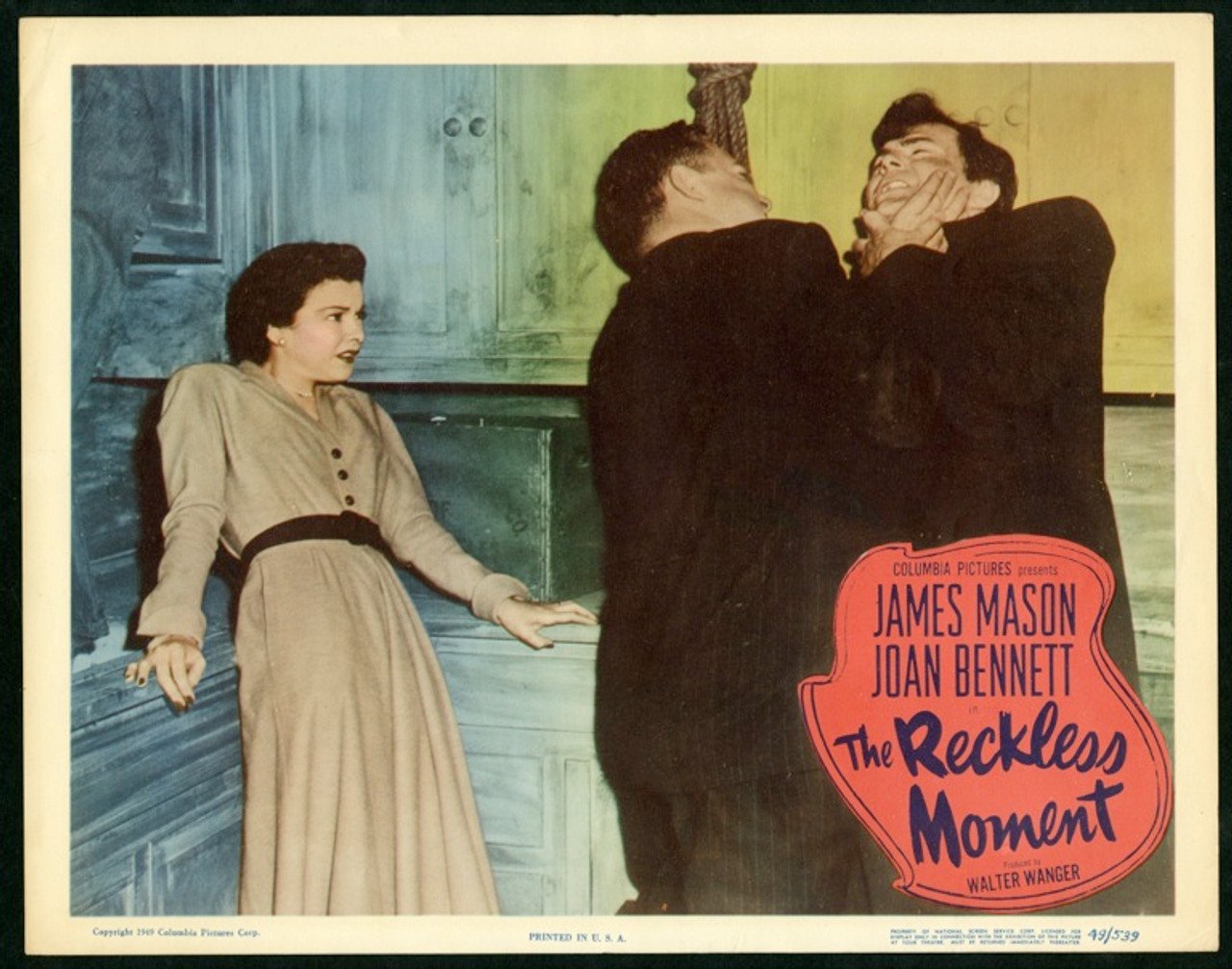 The reckless moment James Mason movie poster print