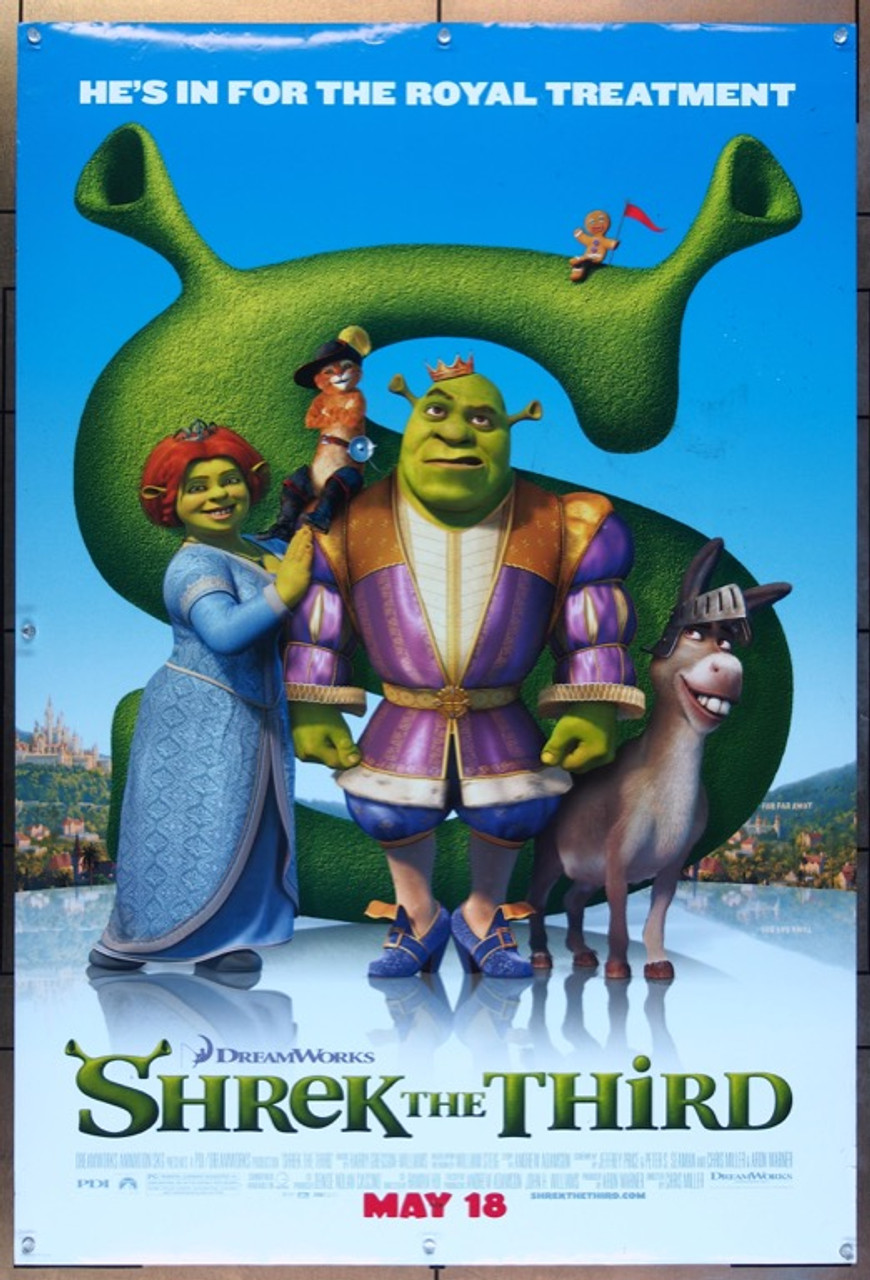 Original Shrek The Third 2007 Movie Poster In Vf Condition For