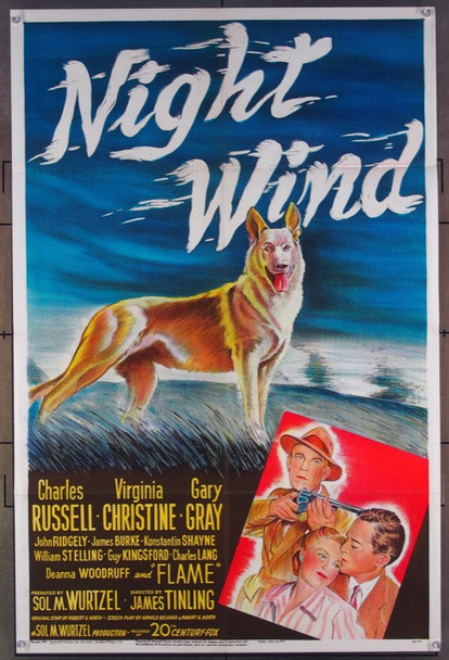 NIGHT WIND (1948) 2990 20th Century Fox Original One-Sheet Poster  (27x41)  Folded  Very Fine Condition