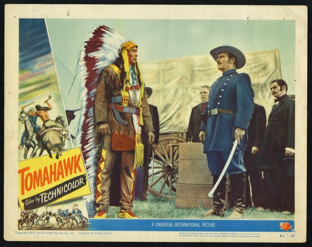 TOMAHAWK (1951) 25707 Universal Pictures Original Scene Lobby Card (11x14) Card Number 6  Good Condition