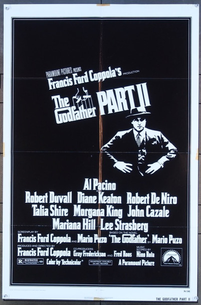 GODFATHER PART II, THE (1974) 2217 Paramount Pictures Original One-Sheet Poster (27x41) Folded  Fine Plus