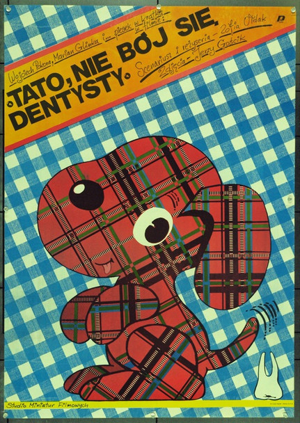 DAD, DON'T BE AFRAID OF THE DENTIST (1986) 22139 Original Polish Poster (27x38).  Lutczyn Artwork.  Unfolded.  Very Fine.