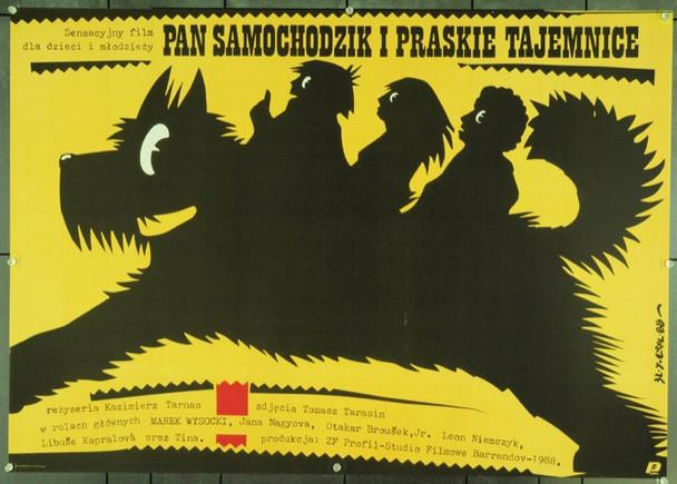 MR. SAMOCHODZIK AND THE SECRETS OF PRAGUE (1989) 22233 Original Polish Poster (27x38).  Jakub Erol Artwork.  Unfolded.  Very Fine.
