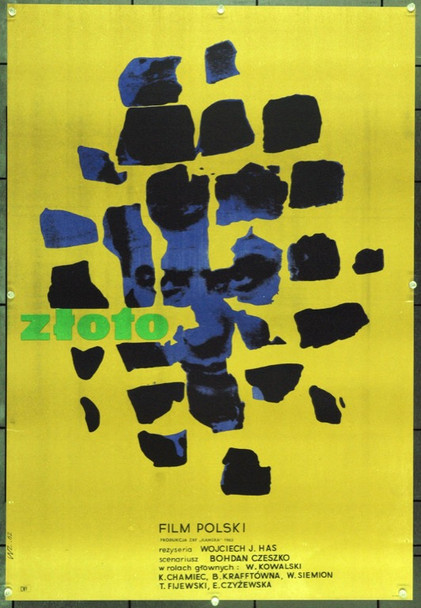 GOLD DREAMS (1962) 22182 Original Polish Poster (23x34).  Zamecznik Artwork.  Unfolded.  Very Fine.