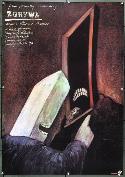 PRACTICAL JOKE (1977) 22213 Original Polish Poster (27x38).  Pagowski Artwork.  Unfolded.  Very Fine.