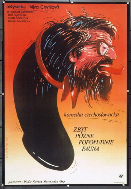 VERY LATE AFTERNOON OF A FAUN, THE (1983) 22221 Original Polish Poster (27x39).  Woltman Artwork.  Unfolded.  Very Fine.