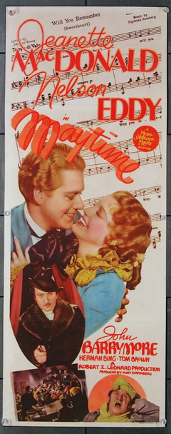 MAYTIME (1937) 8236 MGM Original Insert Poster (14x36) Folded  Fine Plus Condition