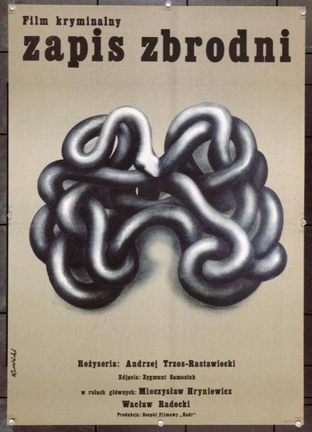 CRIMINAL RECORDS (1974) 22140 Original Polish Poster (23x33).  Artwork By Tomasz Ruminski.  Rolled.  Very Fine.
