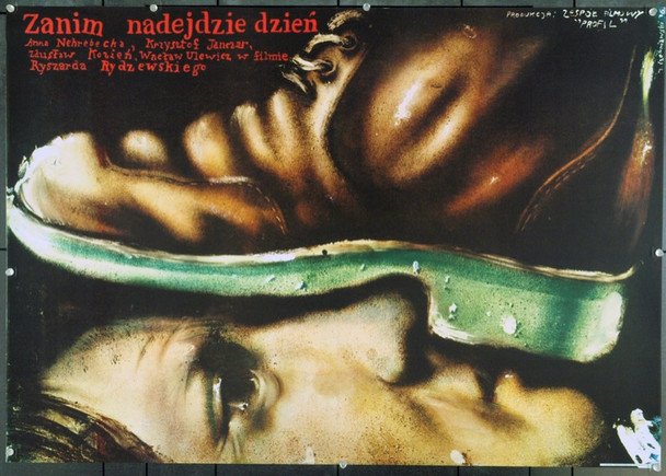 BEFORE THE DAY BREAKS (1977) 22223 Original Polish Poster (27x38).  Czerniawski Artwork.  Unfolded.  Very Fine.