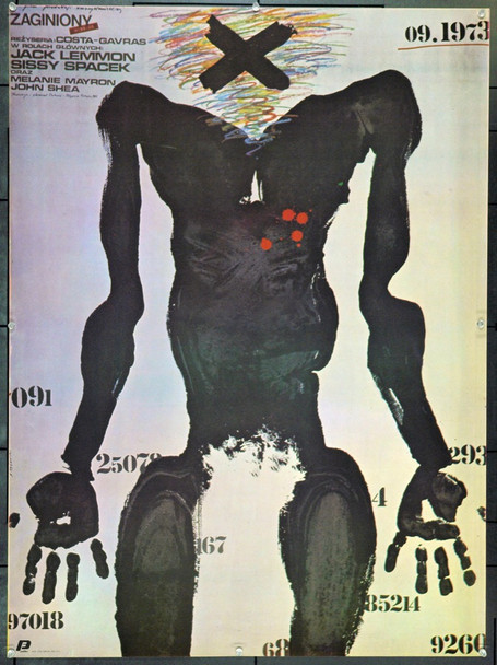 MISSING (1982) 22196 Original Polish Poster (27x37).  Pagowski Artwork.  Unfolded.  Very Fine.
