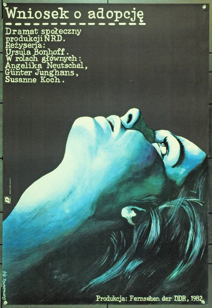 APPLICATION  FOR AN ADOPTON (1983) 22119 Original Polish Poster (27x39).  Gornowicz Artwork.  Unfolded.  Very Fine.