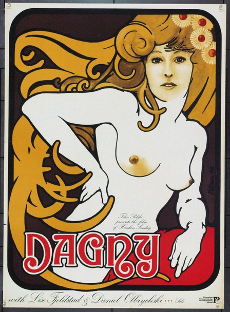 DAGNY (1976) 22103 Original Polish Poster (28x38).  Erol Artwork.  Unfolded.  Very Fine.