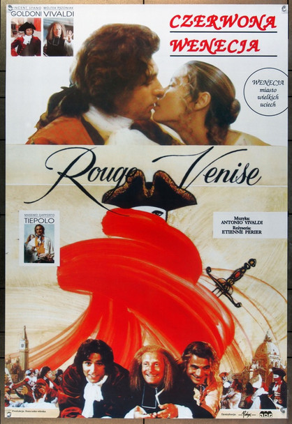 ROUGE VENISE (1989) 22391 Original Polish Poster (27x39).  Unfolded.  Very fine.
