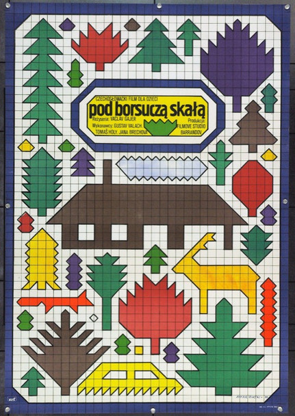 POD JEZEVCI SKALOU (1978) 22188 Original Polish Poster (23x39).  Krajewski Artwork.  Unfolded.  Very Fine.