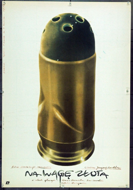 NA VES ZOLOTA (1984) 22320 Original Polish Poster (27x39).  Szulecki Artwork.  Unfolded.  Very Fine.