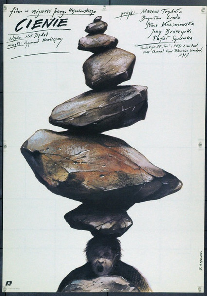 SHADOWS (1988) 22291 Original Polish Poster (27x38).  Pagowski Artwork.  Unfolded.  Very Fine.