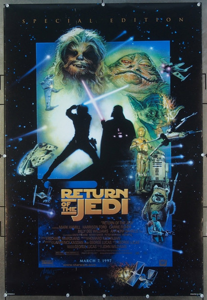 STAR WARS: EPISODE VI - RETURN OF THE JEDI         (1983) 26542 20th Century Fox Original One-Sheet Poster  (27x41)  Rolled  SPECIAL EDITION OF 1997  Fine Plus to Very Fine