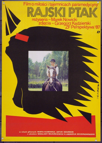 BIRD OF PARADISE (1988) 22379 Original Polish Poster (27x38).  Erol Artwork.  Unfolded.  Very Fine.