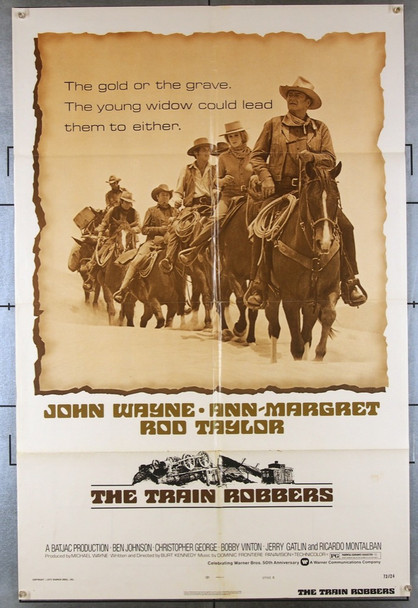 TRAIN ROBBERS, THE (1973) 8110 Warner Brothers Original One-Sheet Poster Style B (27x41)  Fine Plus Condition