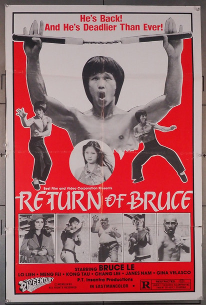 RETURN OF BRUCE, THE (1977) 26589  Movie Poster 21st Century Original One Sheet Poster (27x41) Folded  Fine Plus Condition