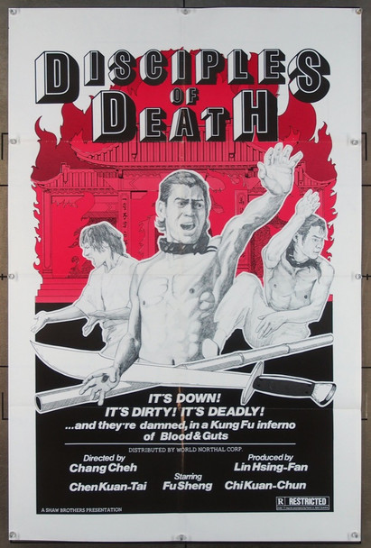 DISCIPLES OF DEATH (1974) 26585  Movie Poster World Northal Original One-Sheet Poster (27x41) Folded.  Fine Plus Condition