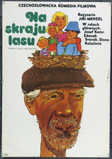 SECLUDED, NEAR WOODS (1976) 22285 Original Polish Poster (23x33).  Andrzej Krzysztoforski Artwork.  Unfolded.  Very Fine.