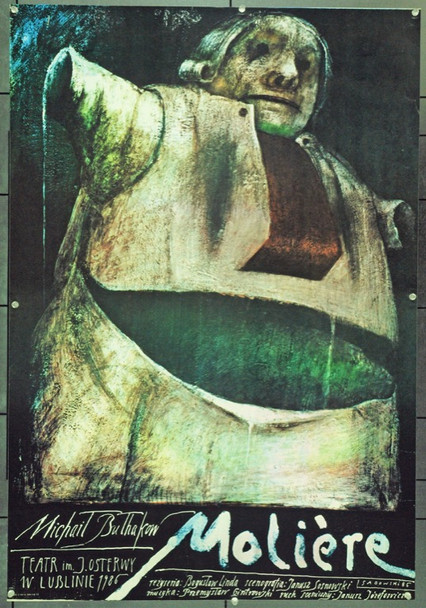 'MOLIERE' (THEATER) (1986) 22229 Original Polish Theatrical Poster (27x39).  Sadowski Artwork.  Unfolded.  Very Fine.
