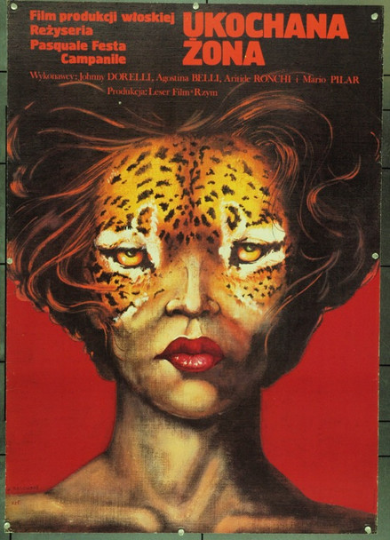 CARA SPOSA (1977) 22296 Original Polish Poster (27x38).  Pagowski Artwork.  Unfolded.  Very Fine.