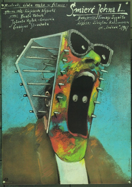 DEATH OF JOHN L., THE (1988) 22352 Original Polish Poster (27x38).  Andrzej Pagowski Artwork.  Unfolded.  Very Fine.