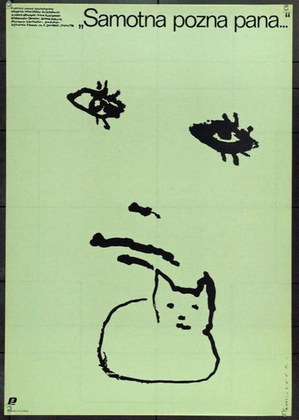 LONELY WOMAN SEEKS LIFETIME COMPANION (1986) 22365 Original Polish Poster (27x38).  Wasilewski Artwork.  Unfolded.  Very Fine.