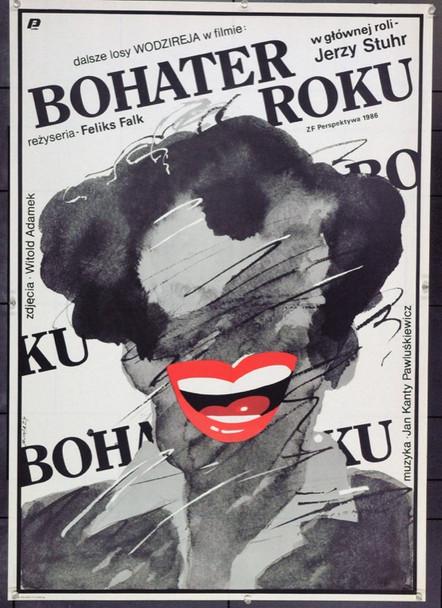HERO OF THE YEAR (1987) 22244 Original Polish Poster (27x38).  Swierzy Artwork.  Unfolded.   Very Fine.