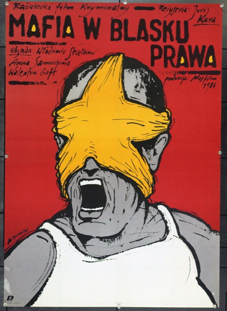 KINGS OF CRIME (1988) 22201 Original Polish Poster (27x38).  Pagowski Artwork.  Unfolded.  Very Fine.