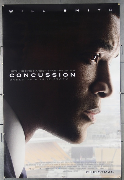 CONCUSSION (2015) 26548 Columbia Pictures Original One-Sheet Movie Poster (27x40)  Double Sided  Never Folded.  Very Fine Condition