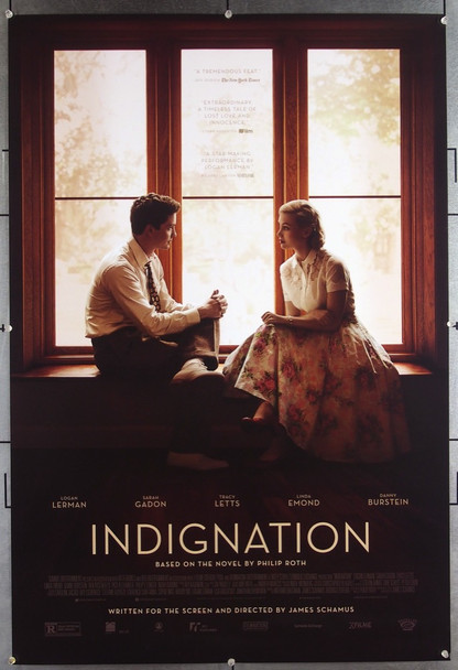 INDIGNATION (2016) 26551 Roadside Attractions Original One-Sheet Poster  (27x40) Never Folded Very Fine Condition