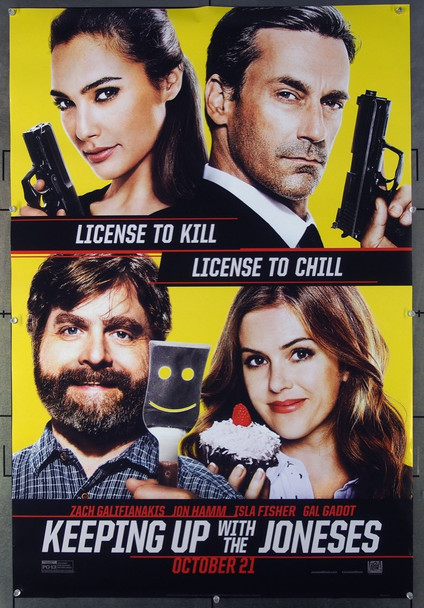 KEEPING UP WITH THE JONESES (2016) 26553 20th Century Fox One-Sheet Poster (27x40) Never Folded  Fine Plus Condition