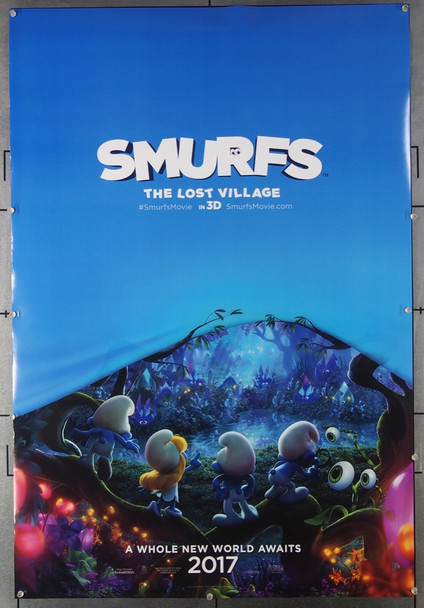 SMURFS: THE LOST VILLAGE (2017) 26564 Sony Pictures Original U.S. One-Sheet Poster (27x40) Double-Sided  Never Folded  Very Fine Condition