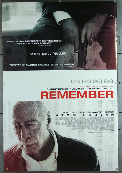 REMEMBER (2015) 26561 A24 Original Studio One-Sheet Poster (27x40) Never Folded  Very Fine Condition
