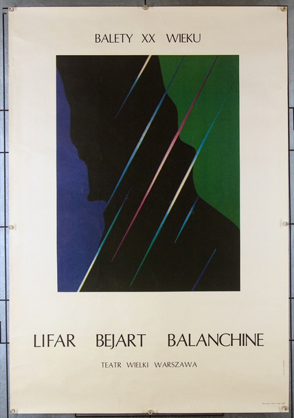 BALLET OF THE TWENTIETH CENTURY (BALANCHINE) (1985) 26591 Original Polish Poster for the Ballet of the Twentieth Century (1985)  (26x38)  Never Folded  Fine Plus Condition