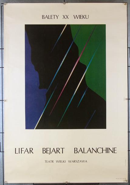 BALLET OF THE TWENTIETH CENTURY (BALANCHINE) (1985) 26591 Original Polish Poster for the Ballet of the Twentieth Century (1985)  (26x38)  Never Folded  Fine Plus Condition