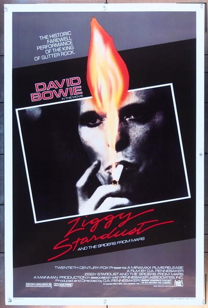 ZIGGY STARDUST AND THE SPIDERS FROM MARS (1983) 328 20th Century Fox Original One-Sheet Poster (27x41)  Unfolded  Fine Condition