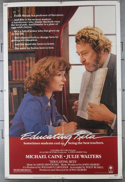 EDUCATING RITA (1983) 3686 Columbia Pictures Original One-Sheet Poster  Folded  Very Fine Condition