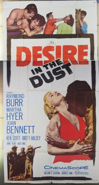 DESIRE IN THE DUST (1960) 17595 20th Century Fox Original Three-Sheet Poster (41x81) Fine Plus Condition
