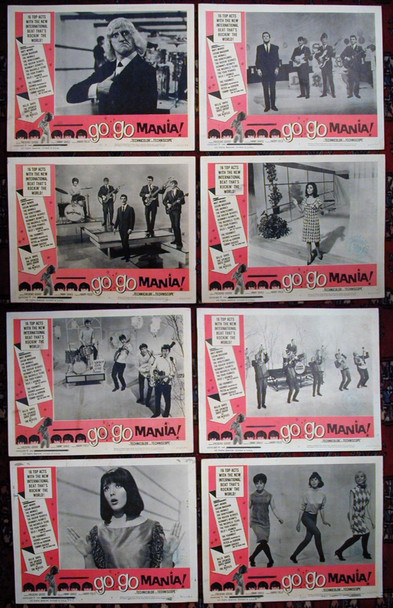 POP GEAR (1965) 15055 American International Original U.S. Lobby Card Set (11x14) Eight Cards Fine Condition Theater-Used