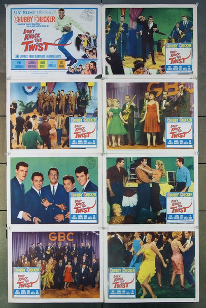 DON'T KNOCK THE TWIST (1962) 15053 Columbia Pictures Original Lobby Card Set (11x14) Very Good to Fine Condition
