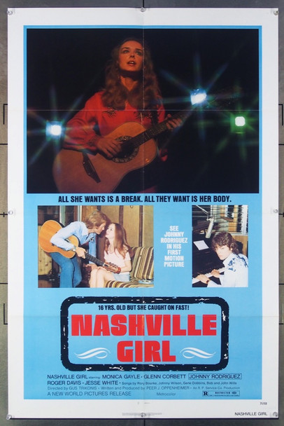 NASHVILLE GIRL (1976) 6319 Original New World Pictures One-Sheet Poster (27x41) Folded  Very Fine Condition