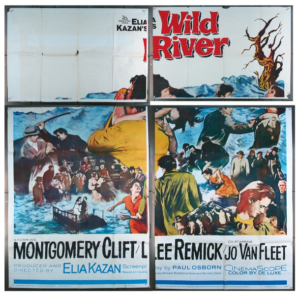 WILD RIVER (1960) 12940 20th Century Fox Original Six Sheet Poster (81x81)  Folded  Theater-Used  Very Good to Fine Condition